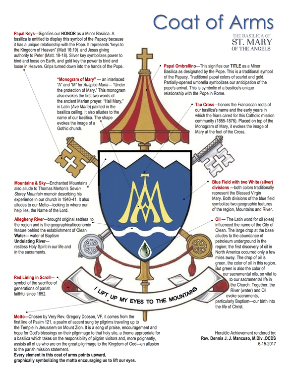 Basilica of St  Mary of the Angels | Coat of Arms | Olean, NY